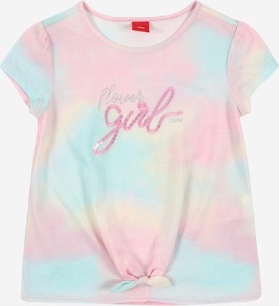 s.Oliver Shirt in pastellblau / pastellgelb / rosa, Produktansicht