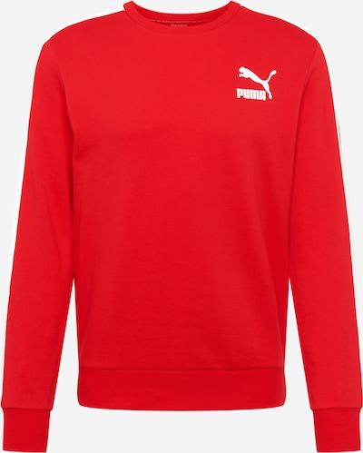 PUMA Sweatshirt in knallrot / weiß, Produktansicht