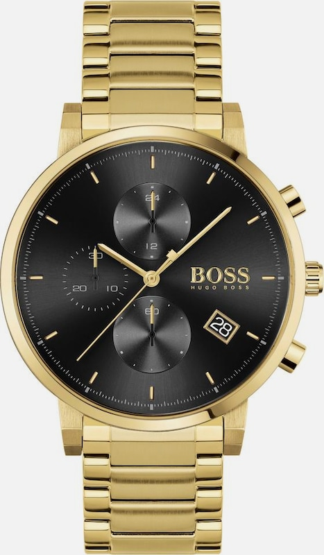 BOSS Chronograph 'Integrity' in gold / schwarz, Produktansicht