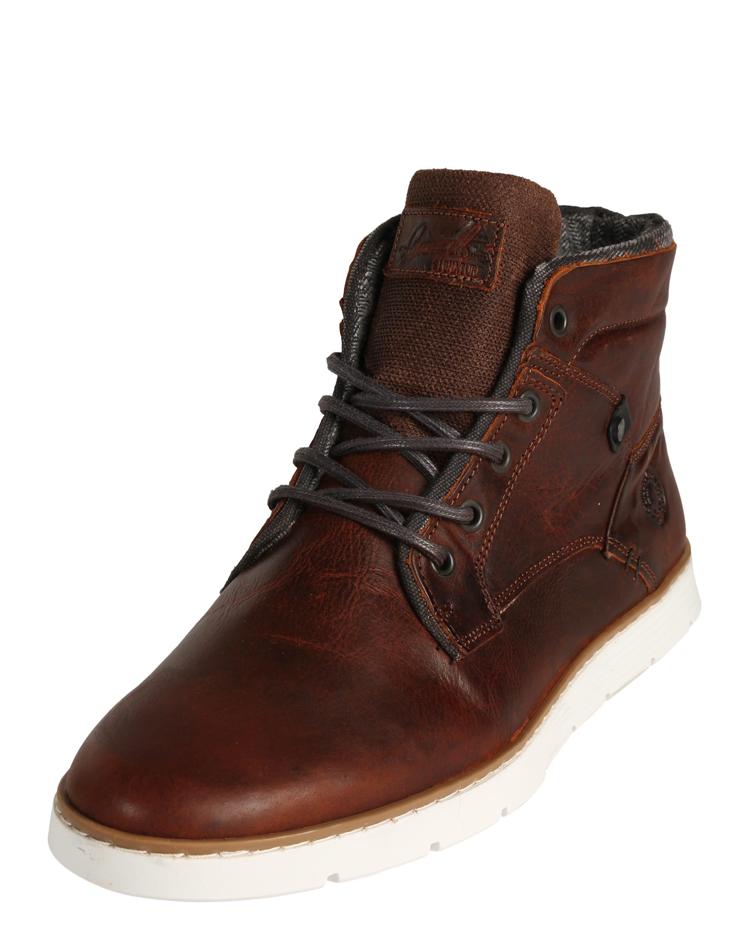 BULLBOXER Sneaker in Patchwork-Optik Verschleißfeste billige Schuhe