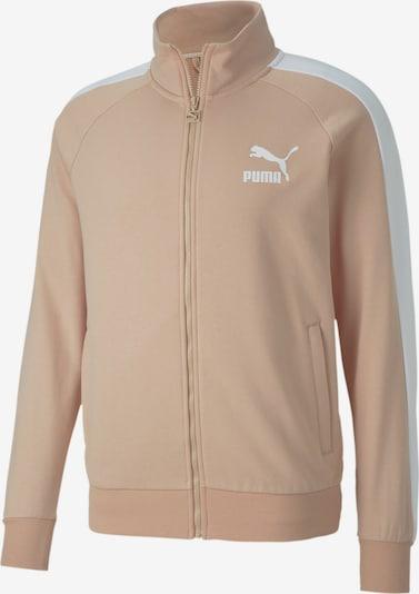 PUMA Trainingsjacke in puder / weiß, Produktansicht