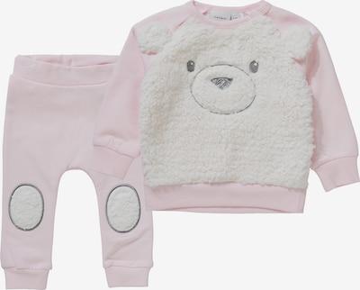 NAME IT Set Sweatshirt und Sweathose in rosa / weiß, Produktansicht