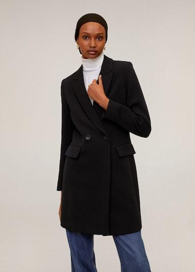 MANGO Tussenmantel 'sugus' in de kleur Zwart, Modelweergave