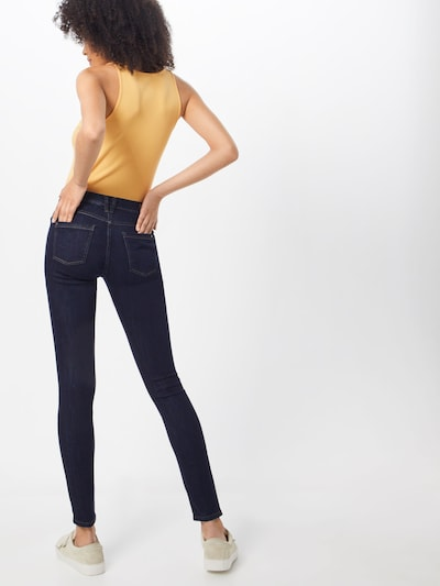 EDC BY ESPRIT Jeans in de kleur Donkerblauw: Achteraanzicht