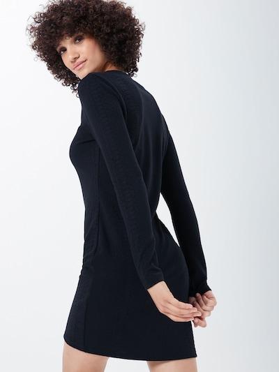 ONLY Kleita 'ONLJACKIE BODYCON L/S DRESS JRS' pieejami melns: Aizmugures skats