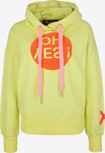 PAUL X CLAIRE Hoodie 'OH YES' in gelb, Produktansicht