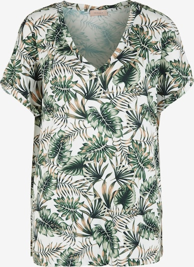 TRIANGLE Shirt in beige / grün / weiß, Produktansicht