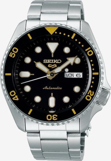 SEIKO Uhr in schwarz / silber, Produktansicht