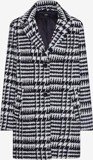 Palton de primăvară-toamnă s.Oliver BLACK LABEL pe negru / alb: Privire frontală