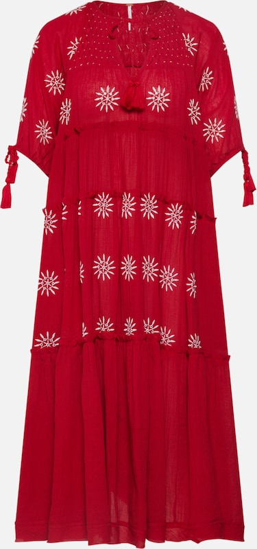 Free People Kleid 'Celestial Skies' in rot: Frontalansicht