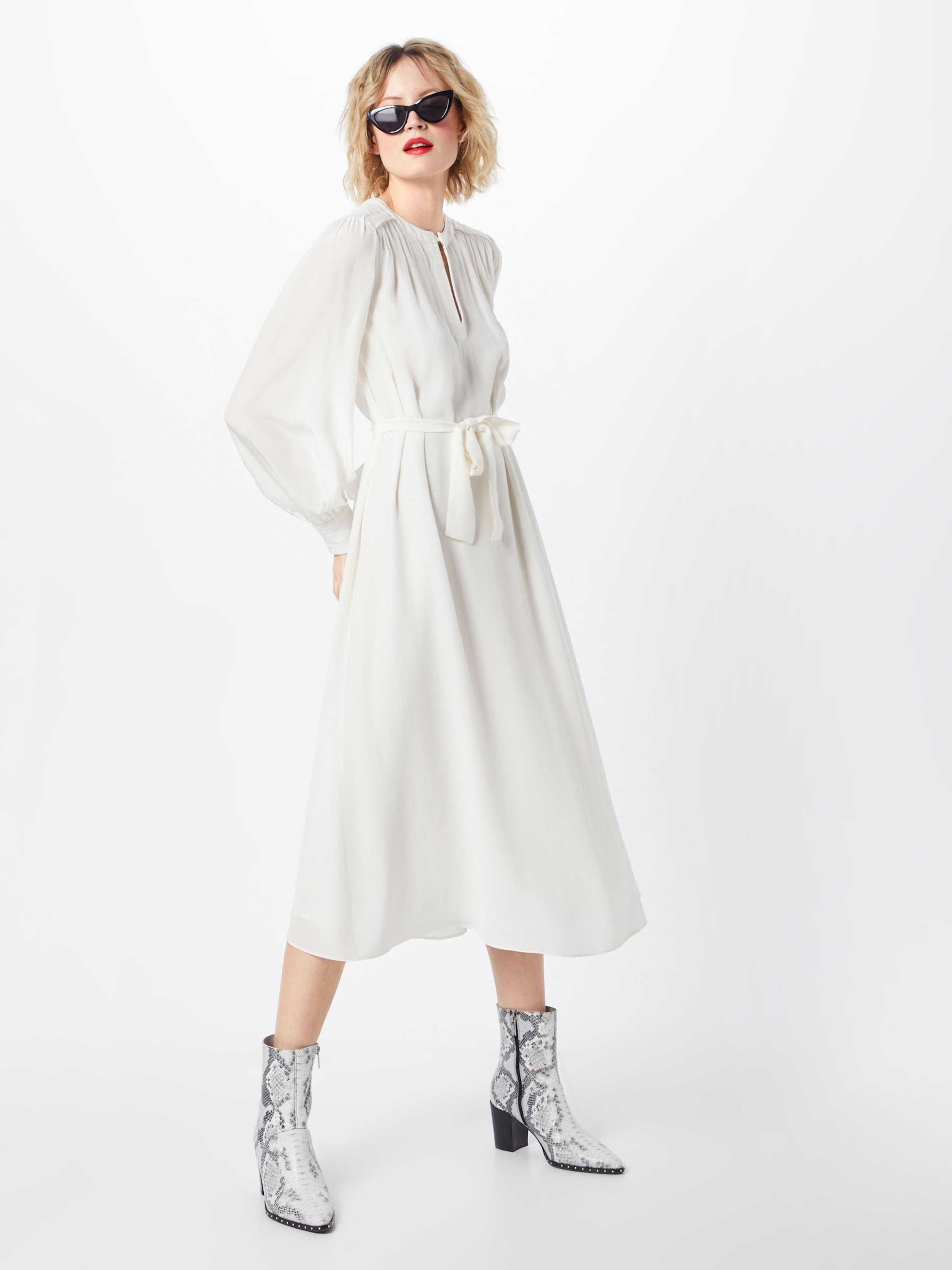 Kleid Dress' Long In Postyr 'poseloise Weiß jLA3R45