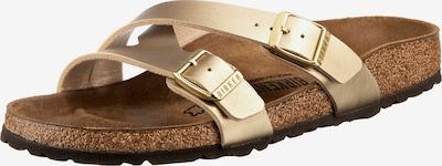BIRKENSTOCK Pantolette 'Yao' in braun / gold, Produktansicht