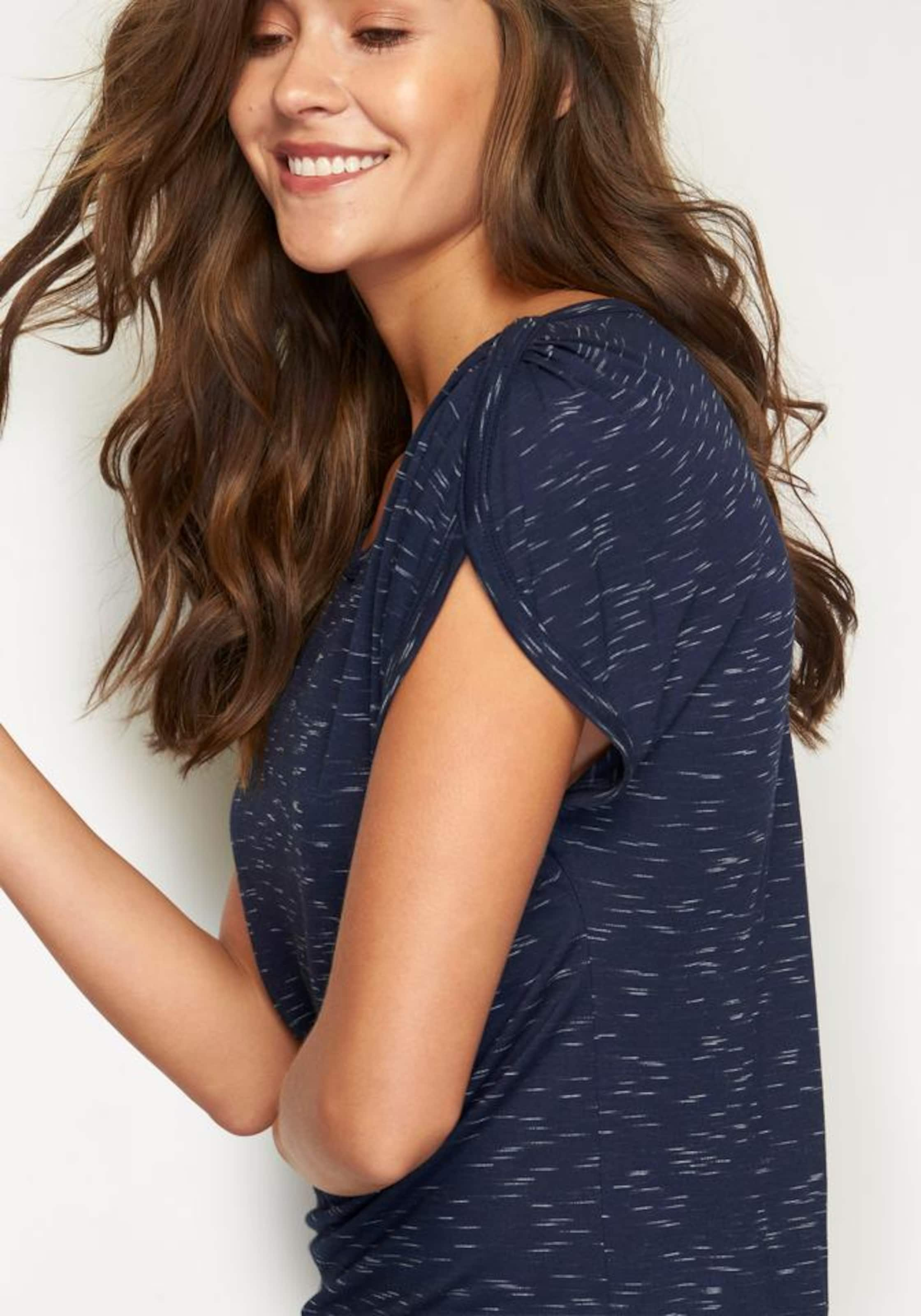 Blaumeliert shirt T Lascana Lascana In BrdCxoe