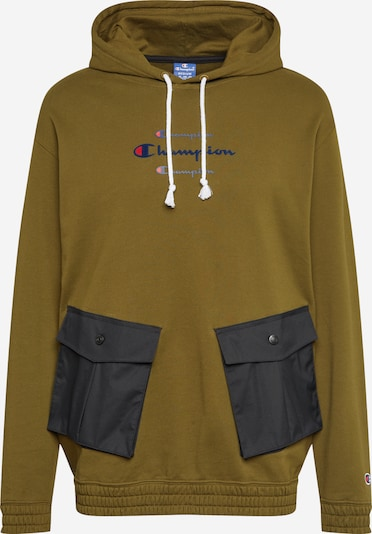 Champion Authentic Athletic Apparel Sweatshirt in de kleur Kaki / Zwart, Productweergave