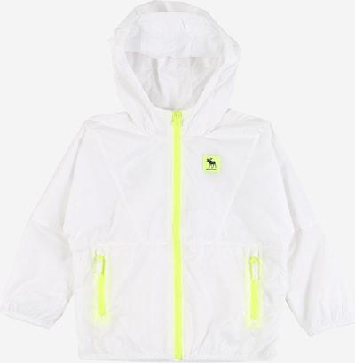 Abercrombie & Fitch Tussenjas in de kleur Neongeel / Wit, Productweergave
