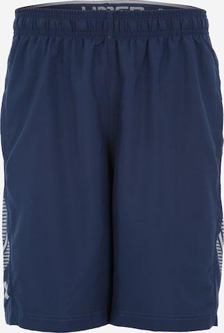 Pantalon de sport 'Woven Graphic' UNDER ARMOUR en bleu