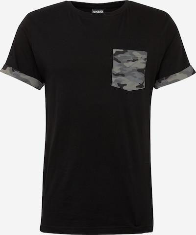 Urban Classics T-Shirt 'Camo Contrast Pocket Tee' in grau / schwarz, Produktansicht