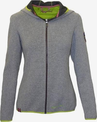 Almgwand Jacke 'Biberkopf' in grau / neongrün, Produktansicht
