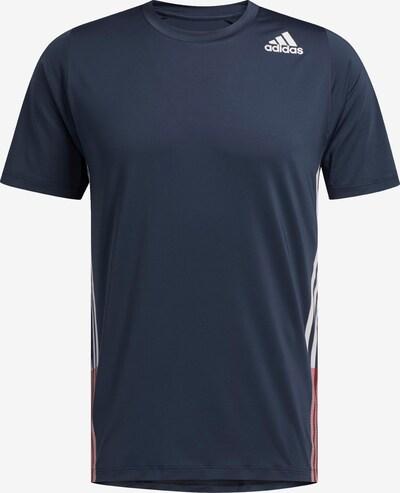 ADIDAS PERFORMANCE Functioneel shirt in de kleur Nachtblauw / Rood / Wit, Productweergave