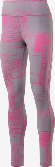 REEBOK Tights 'Yoga' in grau / rosa, Produktansicht