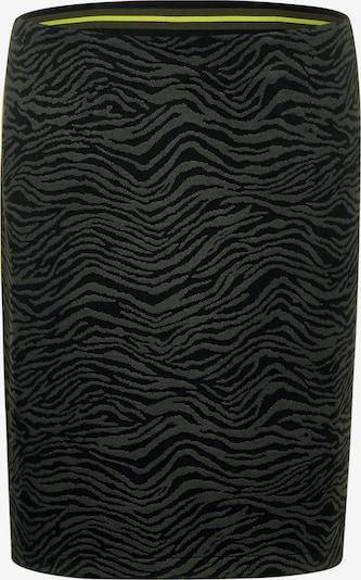 STREET ONE Rock 'Maja' in khaki / neongrün / schwarz, Produktansicht