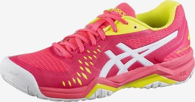 ASICS Tennisschuh 'Gel-Challanger 12' in gelb / pink / weiß, Produktansicht