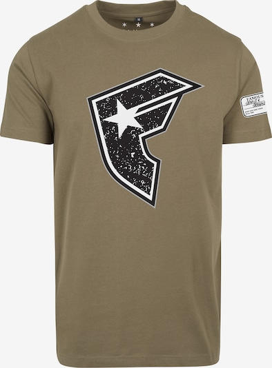 Mister Tee T-Shirt 'Composition' in khaki: Frontalansicht