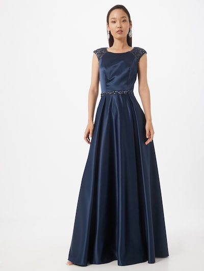 Unique Kleid in marine, Modelansicht