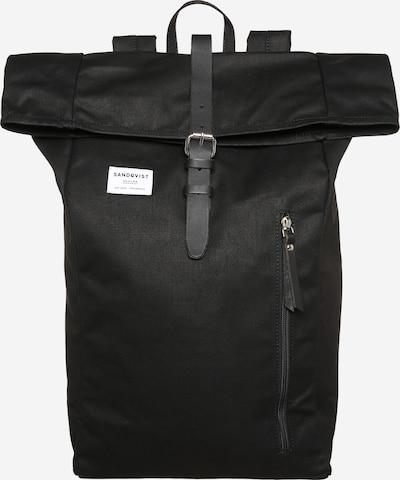 SANDQVIST Roll-Up Rucksack 'Dante' in schwarz, Produktansicht
