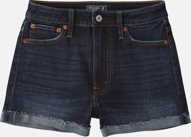 Abercrombie & Fitch Jeans 'SB19-MEDIUM HR STRETCH ROLL T5 MAR' in blue denim: Frontalansicht