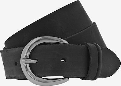 TOM TAILOR DENIM Ledergürtel in schwarz, Produktansicht