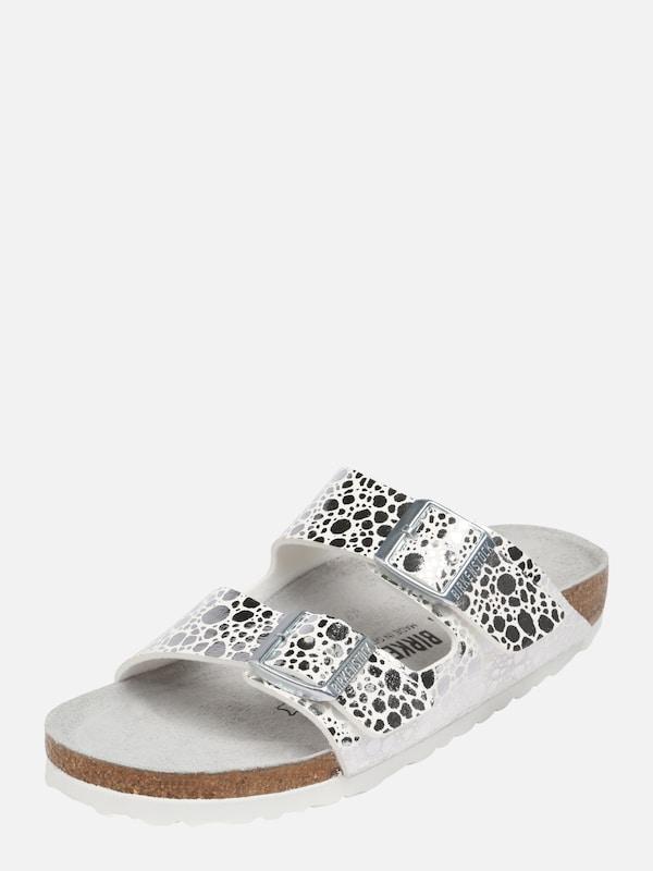 birkenstock sandalette 39 arizona 39 in silber about you. Black Bedroom Furniture Sets. Home Design Ideas