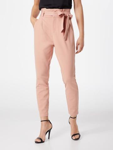 VERO MODA Voltidega püksid 'VMEVA', värv roosa