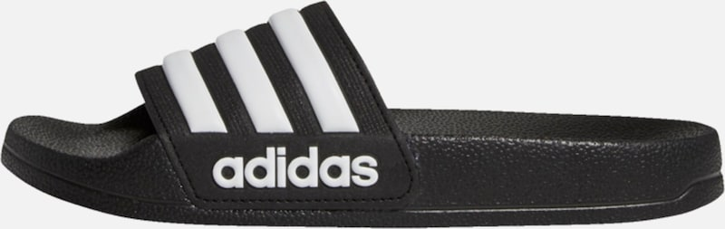 ADIDAS PERFORMANCE Slipper in schwarz / weiß, Produktansicht