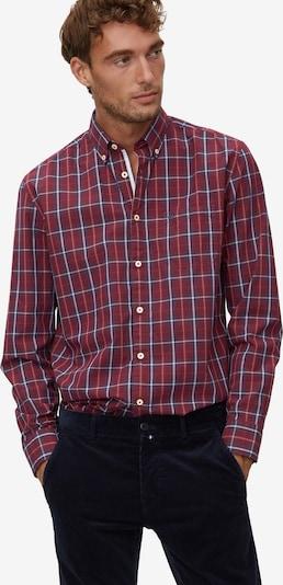 Marc O'Polo Koszula w kolorze niebieski / ciemnoczerwony / białym: Widok z przodu