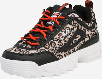 FILA Baskets basses 'Women Heritage Disruptor Animal' en marron / noir, Vue avec produit
