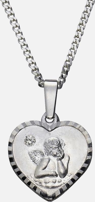FIRETTI Halsschmuck: Halskette »Herz mit Schutzengel«