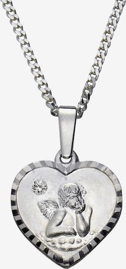FIRETTI Halsschmuck: Halskette »Herz mit Schutzengel« in silber, Produktansicht