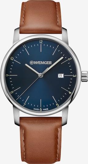 WENGER Analoog horloge 'Urban Classic' in de kleur Donkerblauw / Bruin / Zilver, Productweergave