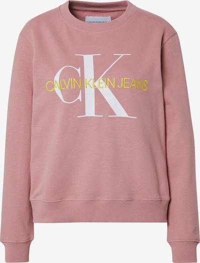 Calvin Klein Jeans Sweatshirt in gelb / apricot / weiß, Produktansicht