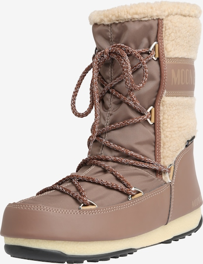 MOON BOOT Snowboots 'MOON BOOT MONACO WOOL' in beige / braun, Produktansicht