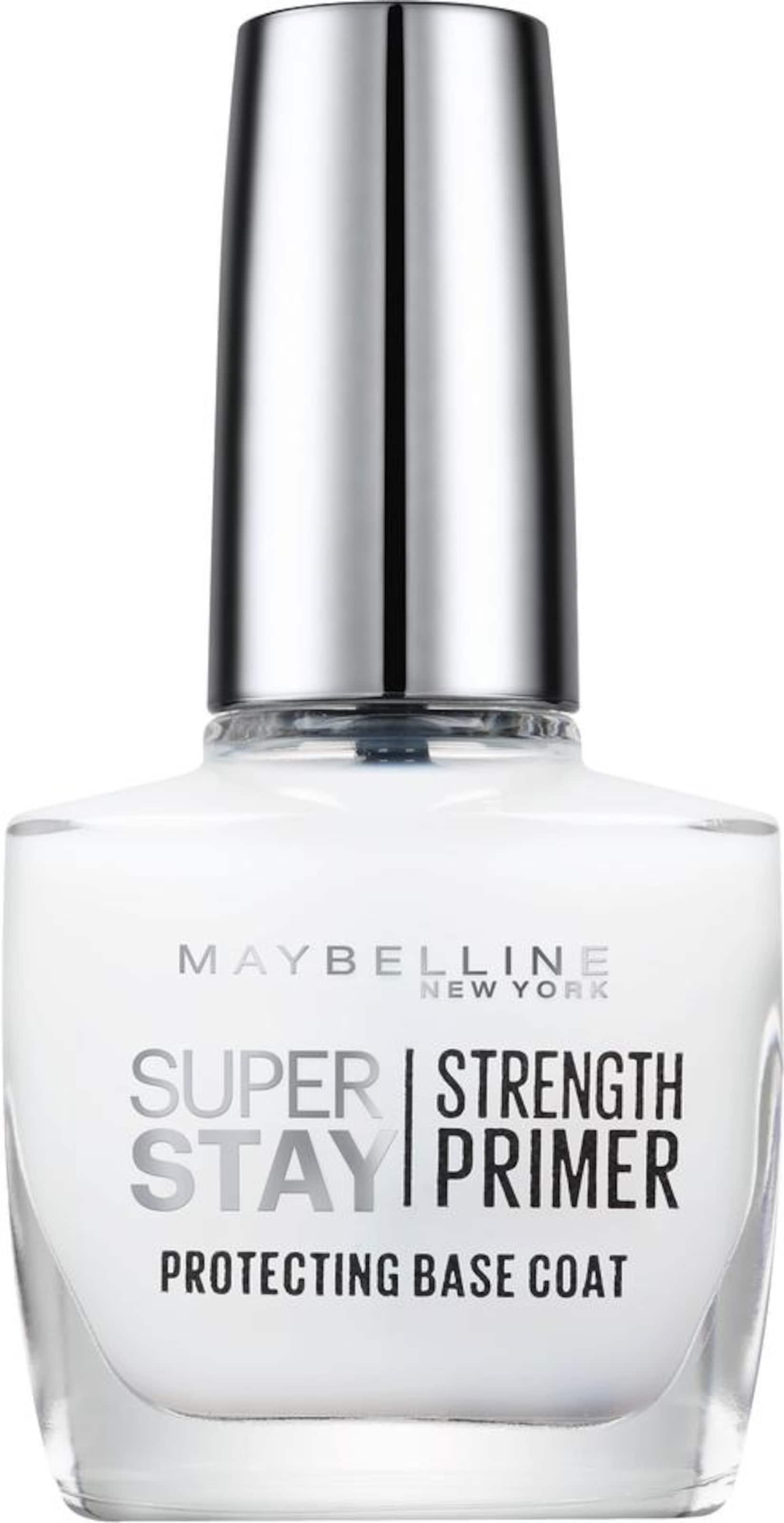 MAYBELLINE New York 'Superstay Nagelpflege Strength Primer Base Coat NU 02', Nagelpflege