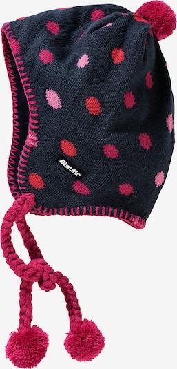 Eisbär Mütze in dunkelblau / orange / pink, Produktansicht