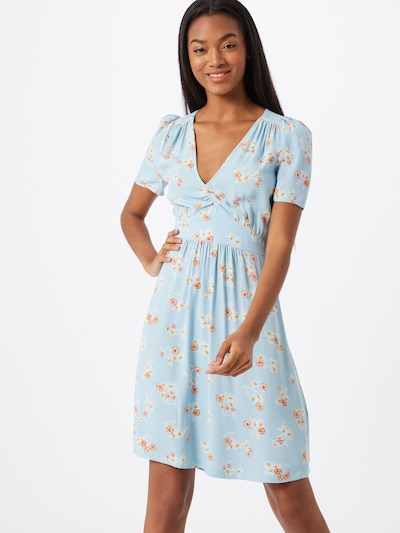 sessun Kleid 'JIMAMA 20' in hellblau / orangerot, Modelansicht
