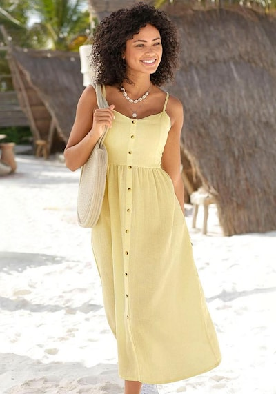LASCANA Robe en jaune, Vue avec modèle