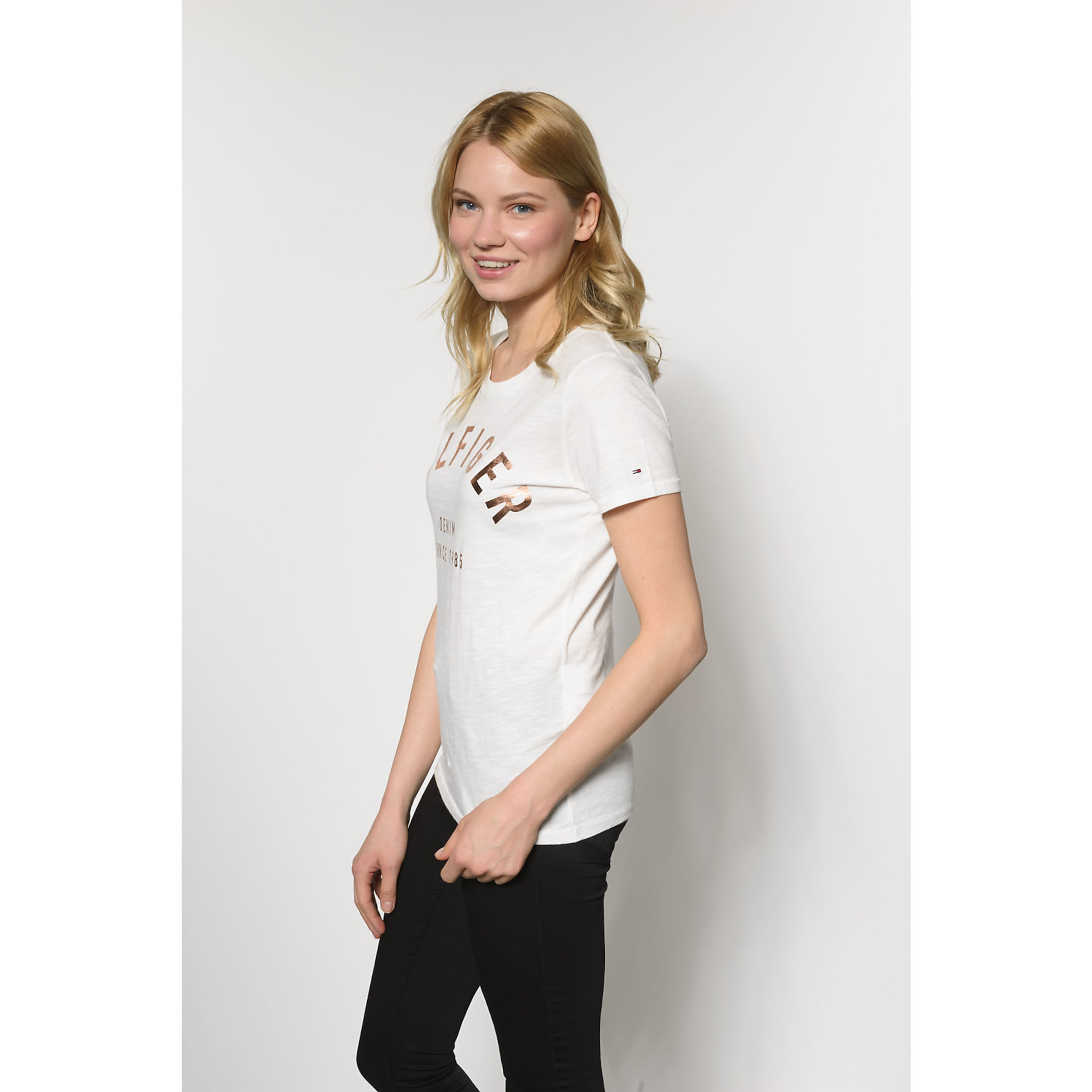 Shirt Shirt T T Jeans mit Print Jeans Tommy Logo Tommy wa5fRxYf
