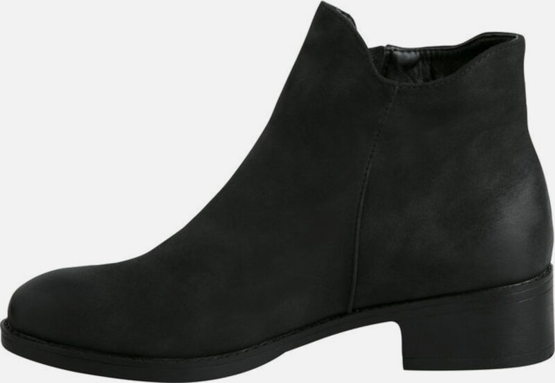 PIECES Klassische, schwarze Stiefeletten