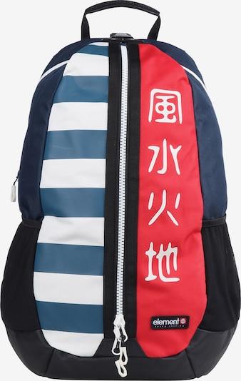 ELEMENT Rucksack 'Tokyo Bustle' in nachtblau / rot, Produktansicht
