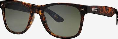 ZIPPO Sonnenbrille polarized 'Green Flash Havana Brown' in braun, Produktansicht