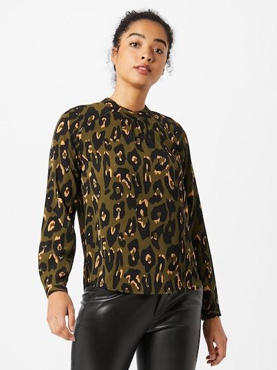 ONLY Blouse in de kleur Olijfgroen / Zwart, Modelweergave